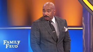 The Merriets MURDER this question! Steve gets SCARED! | Family Feud