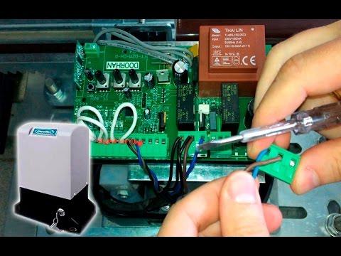 Подключение Sliding привод сдвижных ворот DoorHan инструкция
