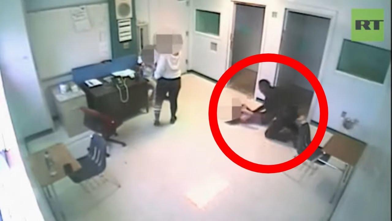 Moment Florida sheriff's deputy throws 15yo girl to the ground