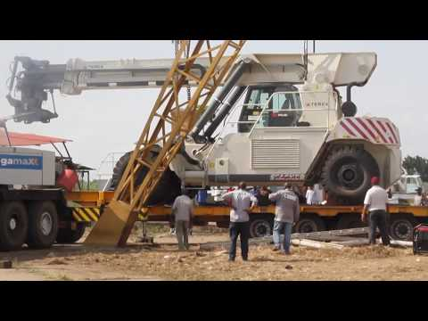 Global Port services Burundi - Introduction of a new machine: TEREX TFC 45