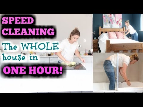 POWER HOUR CLEANING | SPEED CLEANING MY ENTIRE HOUSE | KERRY WHELPDALE