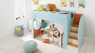 Learn how to build a loft bed with stairs for your kid