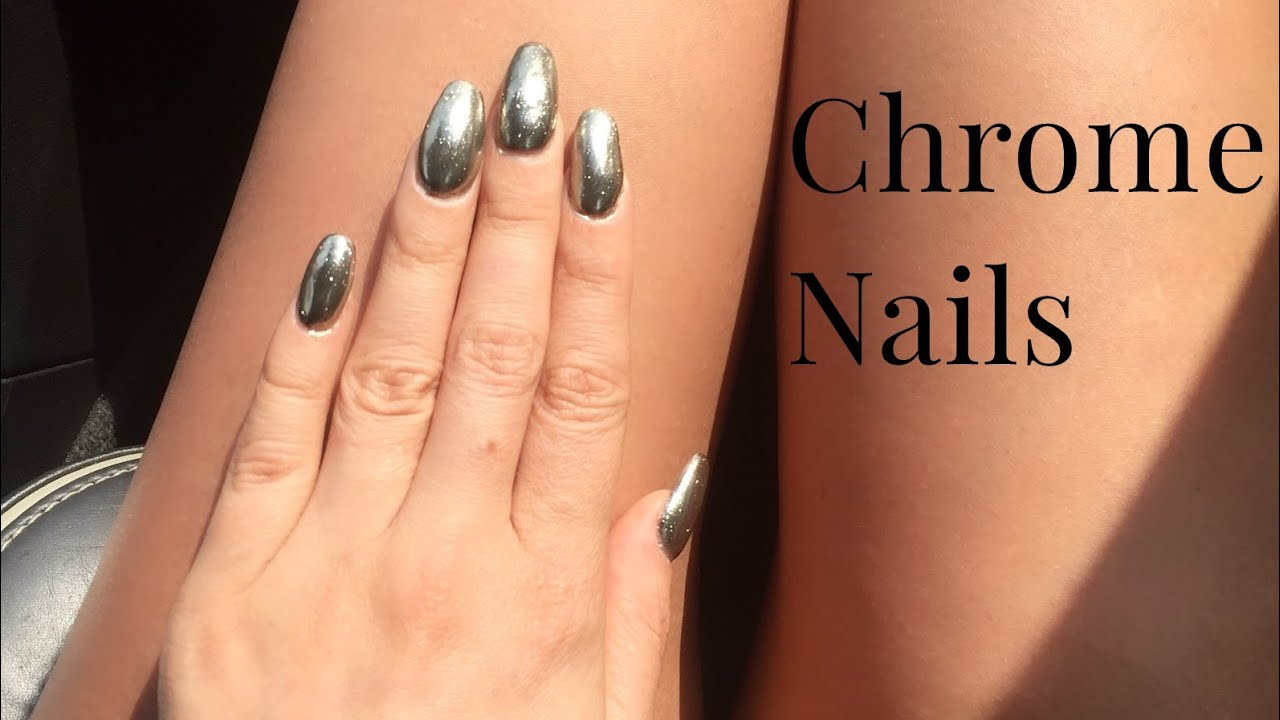 CHROME MIRROR NAILS deutsch selber machen | Elen Pruefer - YouTube