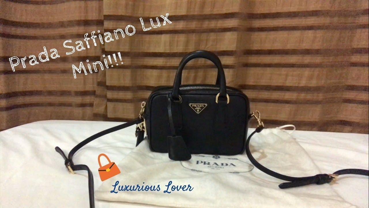 Prada Saffiano Lux Mini - What s In My Bag  74b4f0519ba69