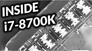 Inside i7-8700K - Rasterelektronenmikroskop (REM) Footage (de)