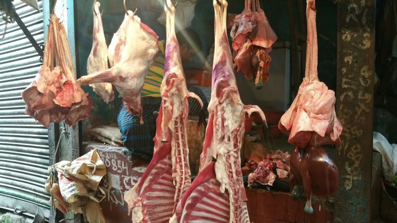 Amazing Bangladeshi Skilled Butcher Processing 2 Goat 🐐 Head in 5 Minutes