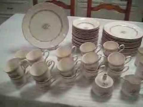 Vintage 104 piece Sango Country French Chateau China Set Dinnerware Serves 13 - YouTube & Vintage 104 piece Sango Country French Chateau China Set Dinnerware ...