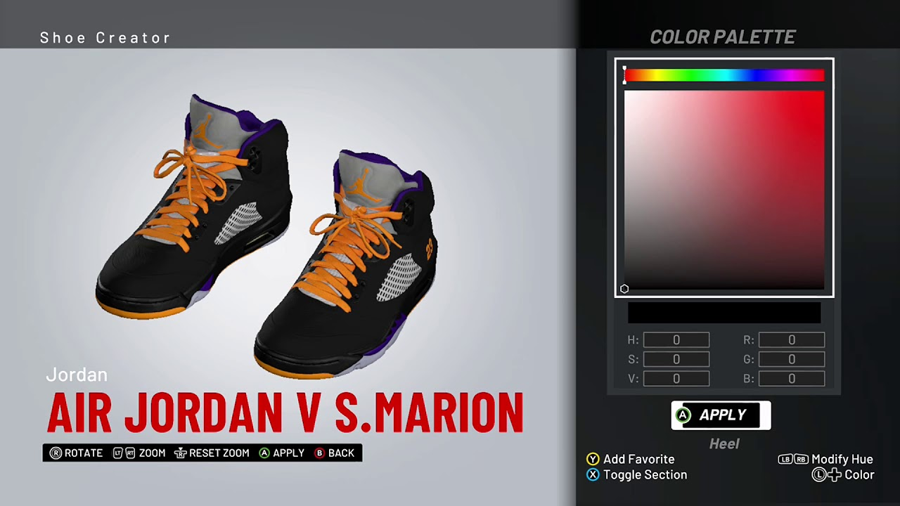 862eef210bdb NBA 2K19 Shoe Creator - Air Jordan 5 PE