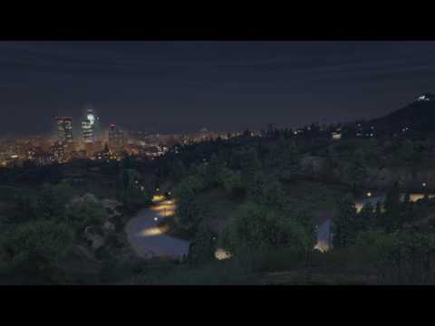 Video Game Ambience Asmr - (GTA V) Vinewood Hills View of the City