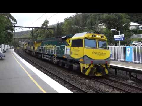 Three freight trains at Koolewong - 4/3/17