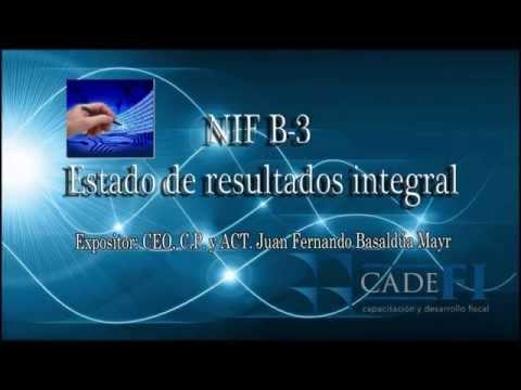 NIF B3 Estado de resultados integral (Estado de México)