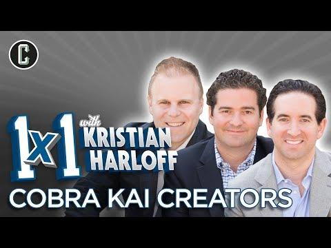 1x1 W KRISTIAN HARLOFF - The Creators of Cobra Kai: Jon Hurwitz, Hayden Schlossberg, Josh Heald