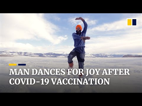 Canadian man celebrates his Covid-19 vaccine with a traditional Indian dance