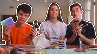 MAKEUP CHALLENGE with Johnny Orlando & Hayden Summerall