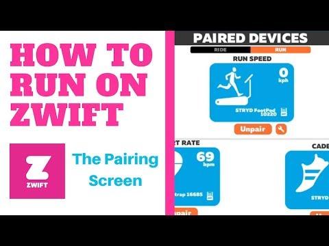 How to Run on Zwift | Pairing Screen