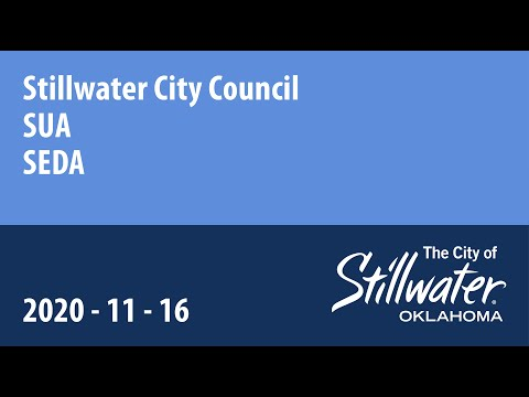 Stillwater City Council - SUA - SEDA 11/16/2020