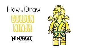 How to Draw the Golden Ninja from Lego Ninjago