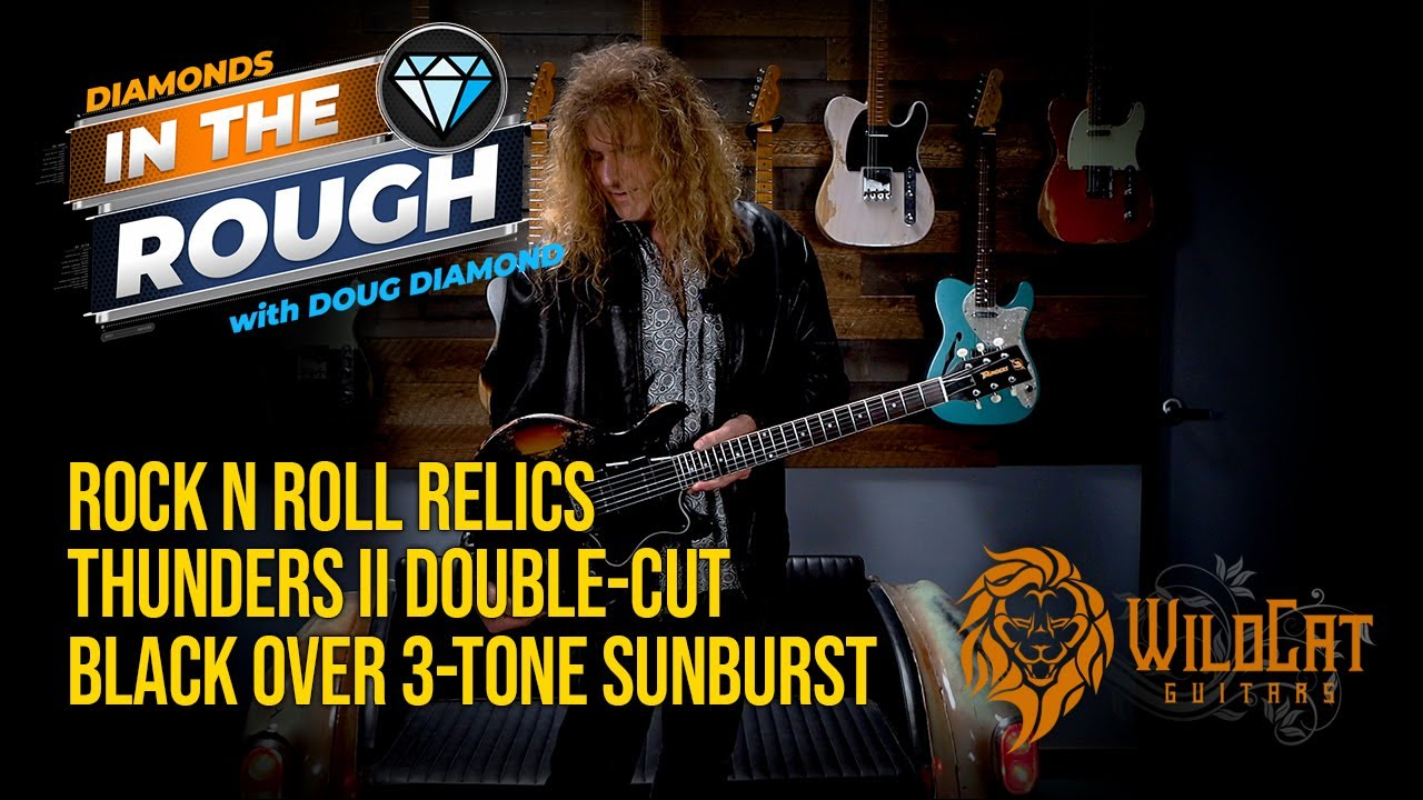 Download WildCat Guitars Diamonds In The Rough Rock N Roll Relics Thunders II Double-Cut #6StringJungle