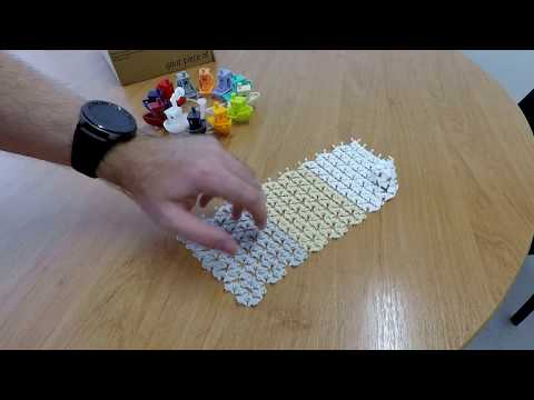 Triangulated 3D printed textile