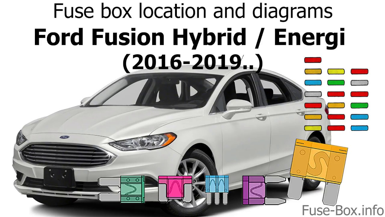 fuse box location and diagrams: ford fusion hybrid / energi (2016-2019  )