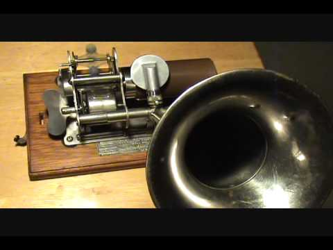 SLEIGH RIDE PARTY 1897 Columbia Brown Wax Christmas Cylinder Played on EAGLE Graphophone Phonograph