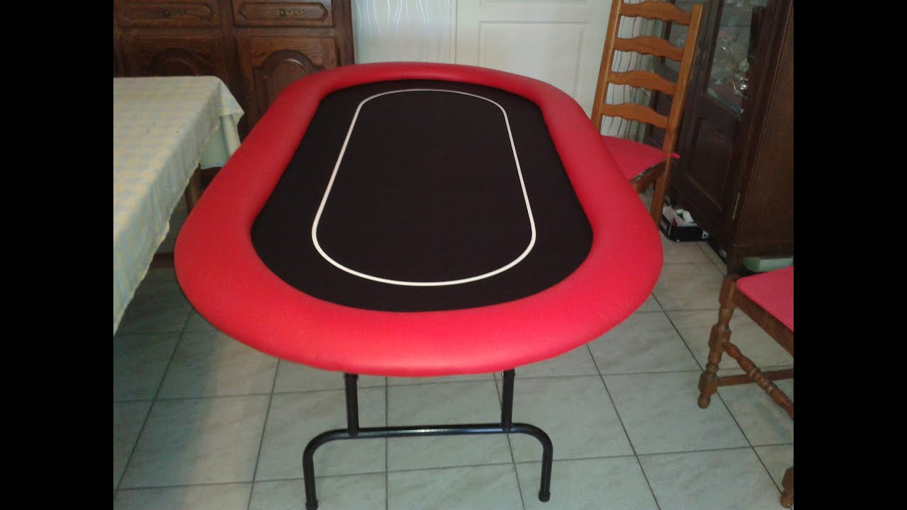 table de poker faite maison youtube. Black Bedroom Furniture Sets. Home Design Ideas