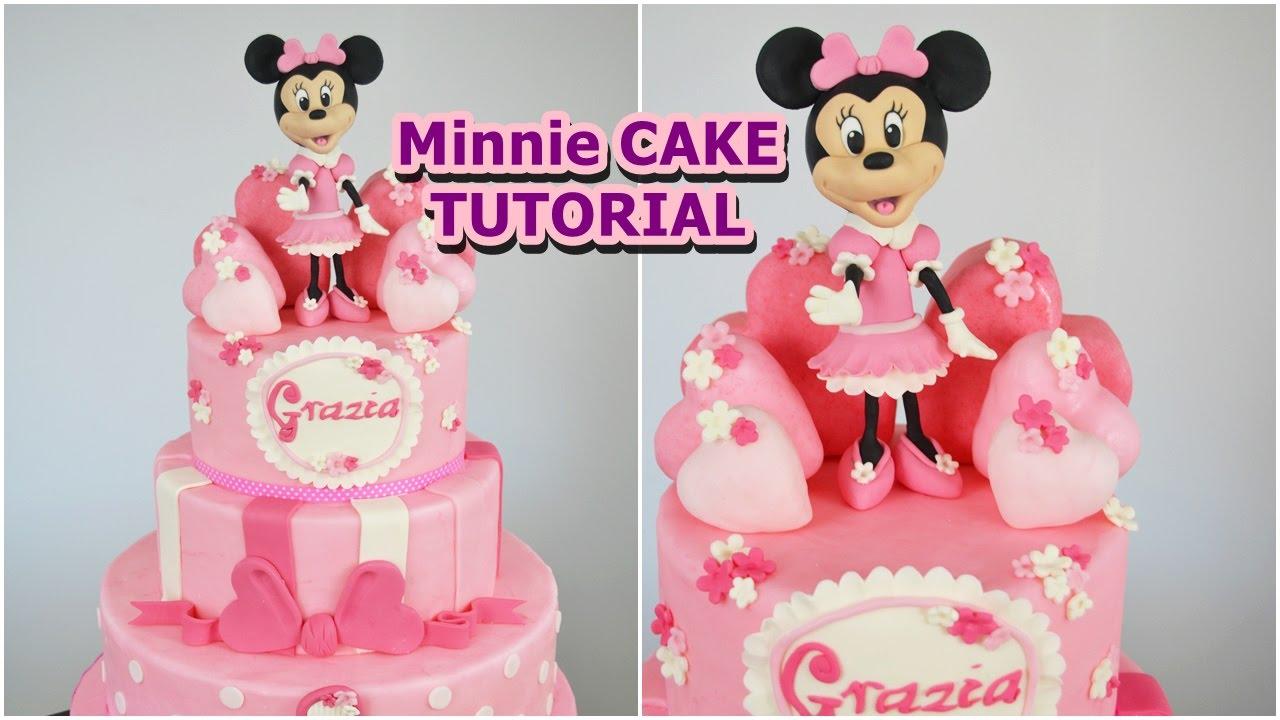 Minnie Cake Fondant Tutorial Torta Topolina In Pasta Di Zucchero