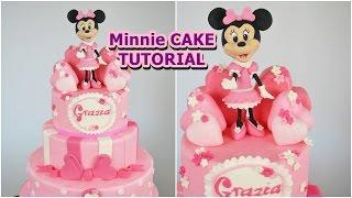 MINNIE cake fondant tutorial - torta topolina in pasta di zucchero