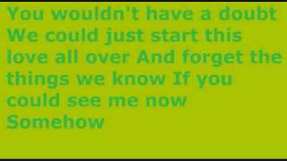 Boys Like Girls - If You Could See Me Now - Lyrics