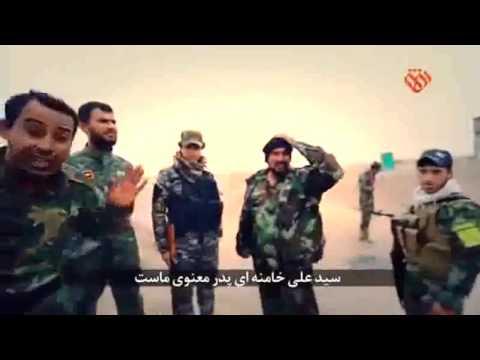 Iraqi soldiers on Khamenei