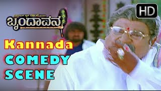 Challenging star Darshan Kannada Comedy Scenes | Brindavana Movie