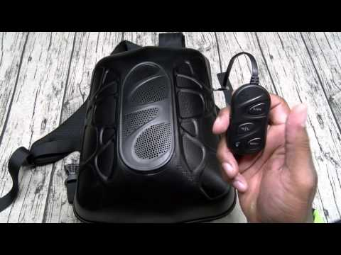 Trakk Shell Waterproof Backpack With Bluetooth Speaker LED Lights And Power Bank