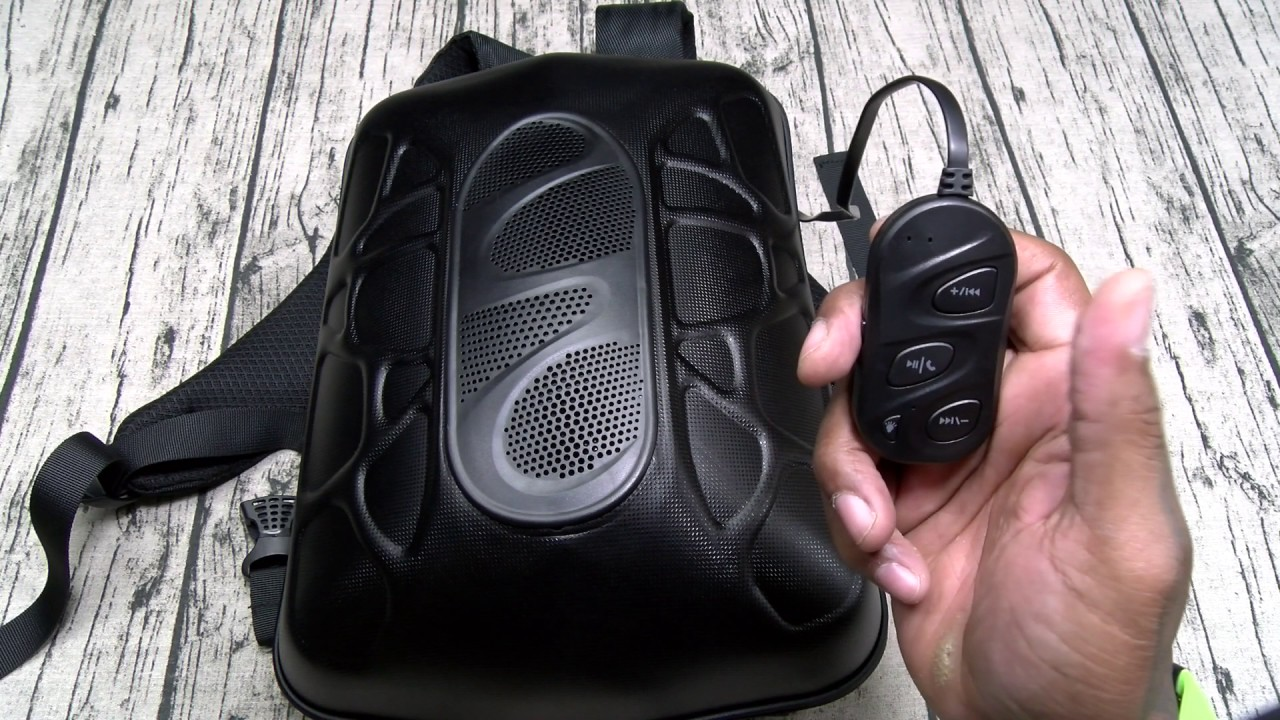 Bluetooth speaker bookbag
