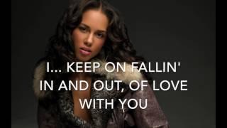 Fallin' - Alicia Keys - Karaoke original key