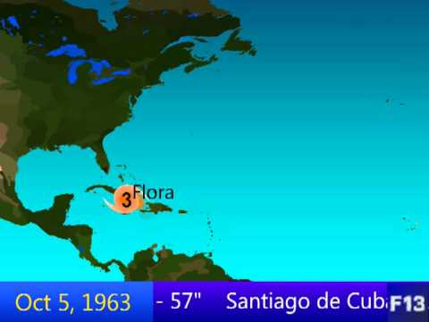 1963 Atlantic Hurricane Season Animation