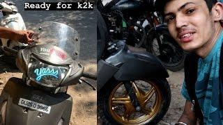 TVS JUPITER Modification For Kashmir To Kanyakumari Ride