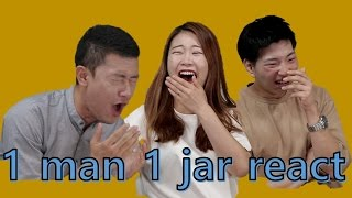 Koreans react to 1 MAN 1 JAR (jarsquatter) - shocking website in the world