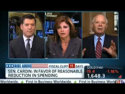 Maria Bartiromo Interviews Senator Cardin 12-20-12