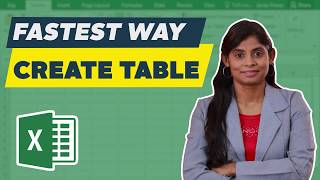 Create table in Excel (Fastest way) | Tutorial