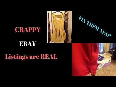 PLEASE fix your crappy eBay listings sellers...