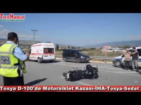 Tosya D 100'de Motorsiklet Kazası