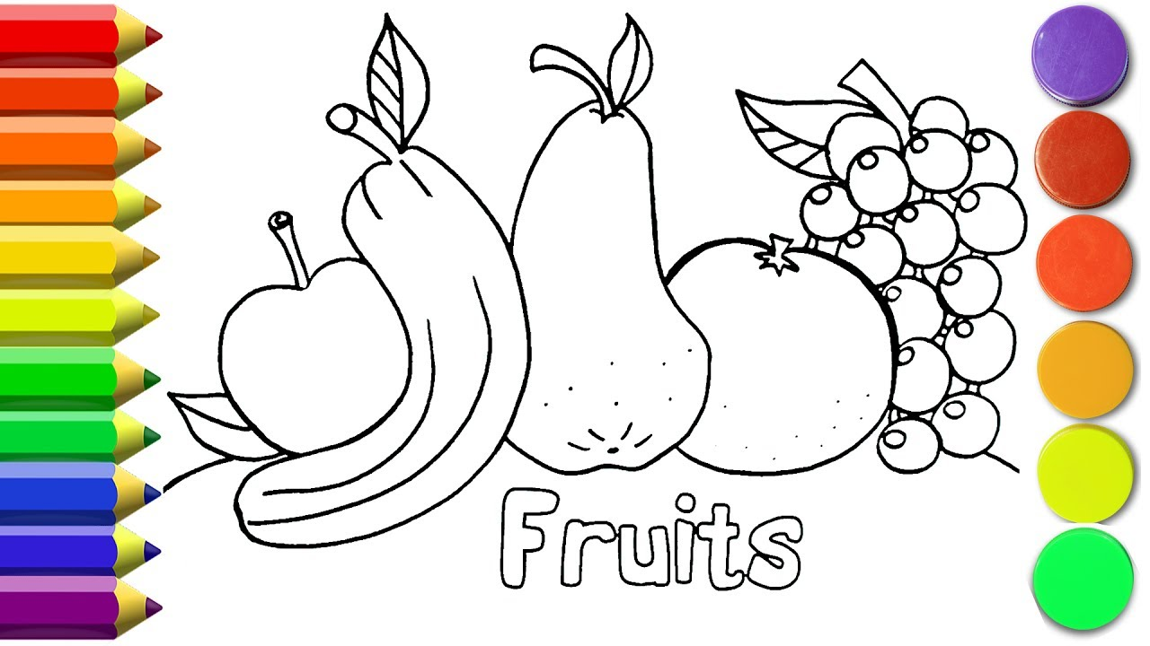 How To Draw Fruits Coloring Pages