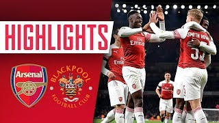 GOALS & HIGHLIGHTS | Arsenal 2 - 1 Blackpool
