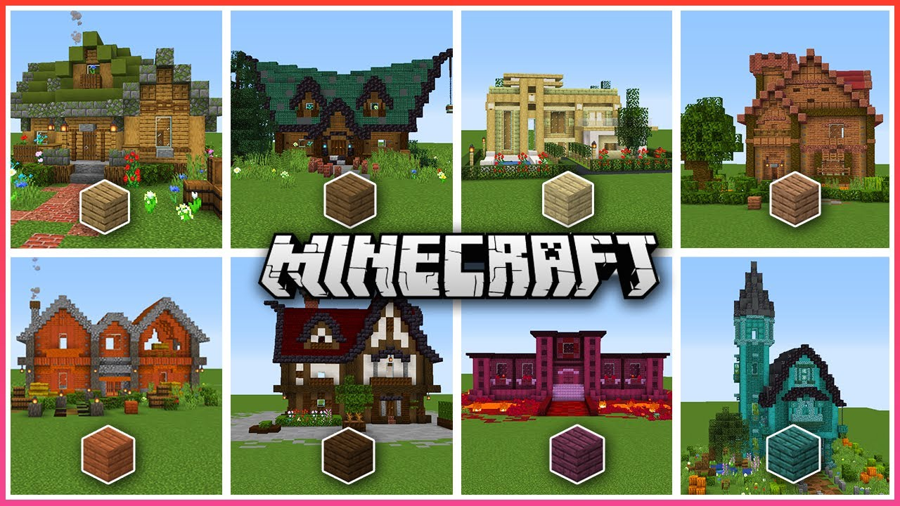 A Minecraft House For Every Type Of Wood Youtube