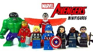 LEGO Avengers Assemble KnockOff Minifigures Marvel Superheroes w/ Hulk Iron Man & Captain America