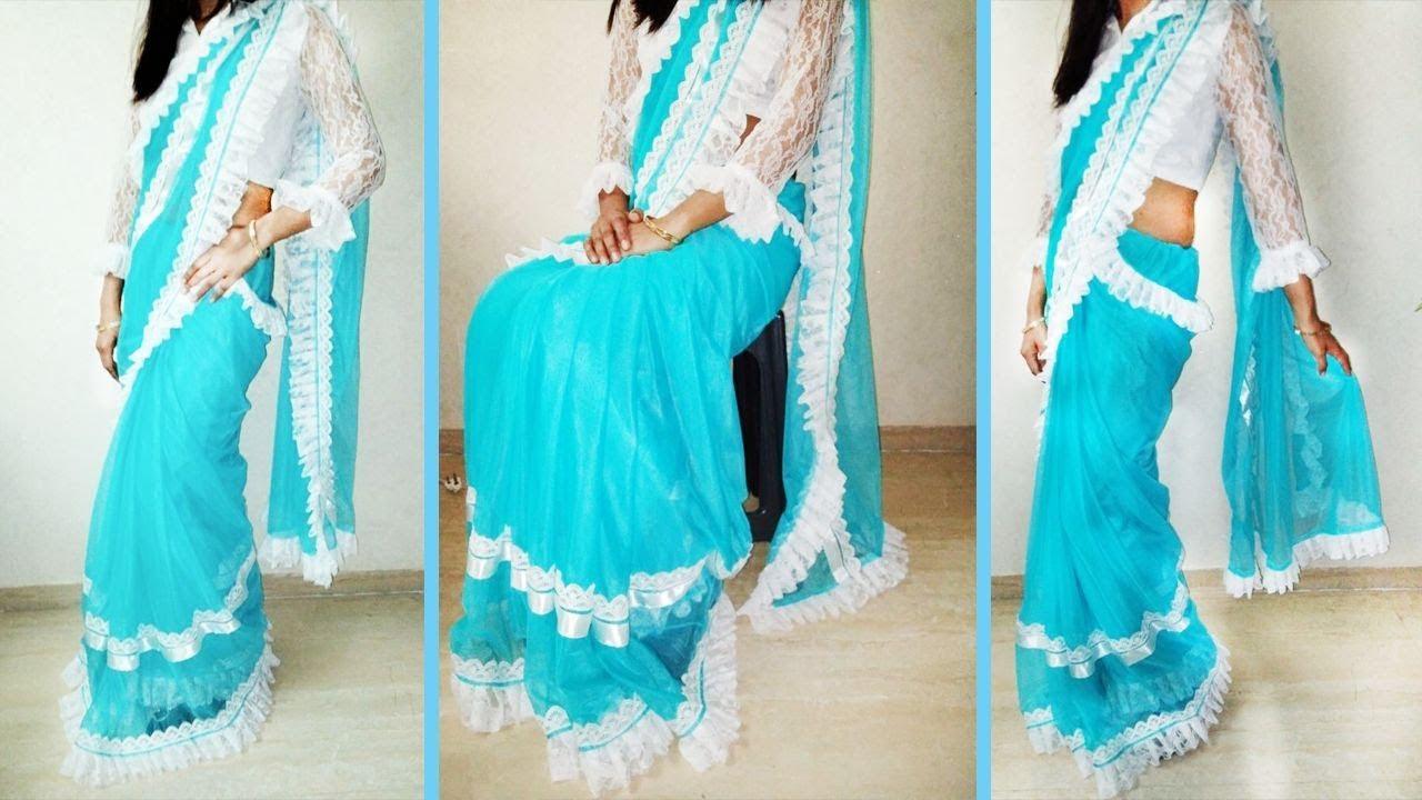 How To Make Designer Saree At Home How To Make Designer Saree How To Make Designer Saree In