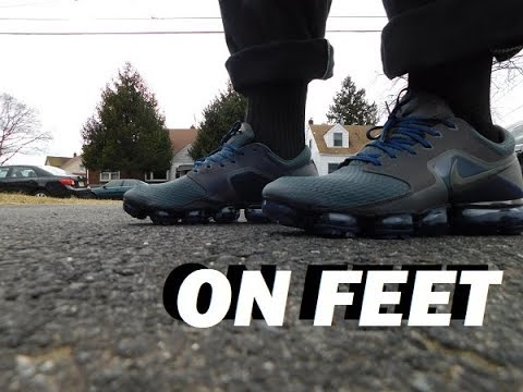 0d1567f1948 Nike Air Vapormax R Midnight Fog On Feet - YouTube