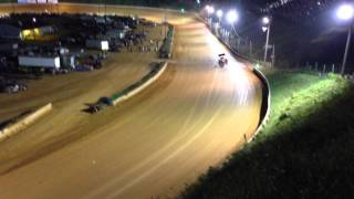july 12 2014 wythe raceway test run and wreck dave blaney world of outlaws sprint car