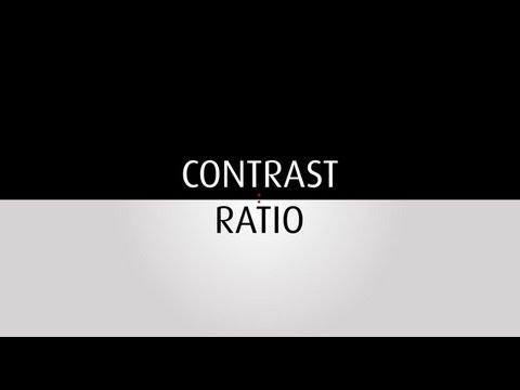 Contrast ratio explained
