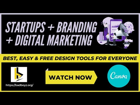 World's Easy & Best Graphic Design Tool - CANVA Basic Tutorial